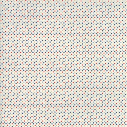 Moda - Essential Mini Dot - White Multi Fabric